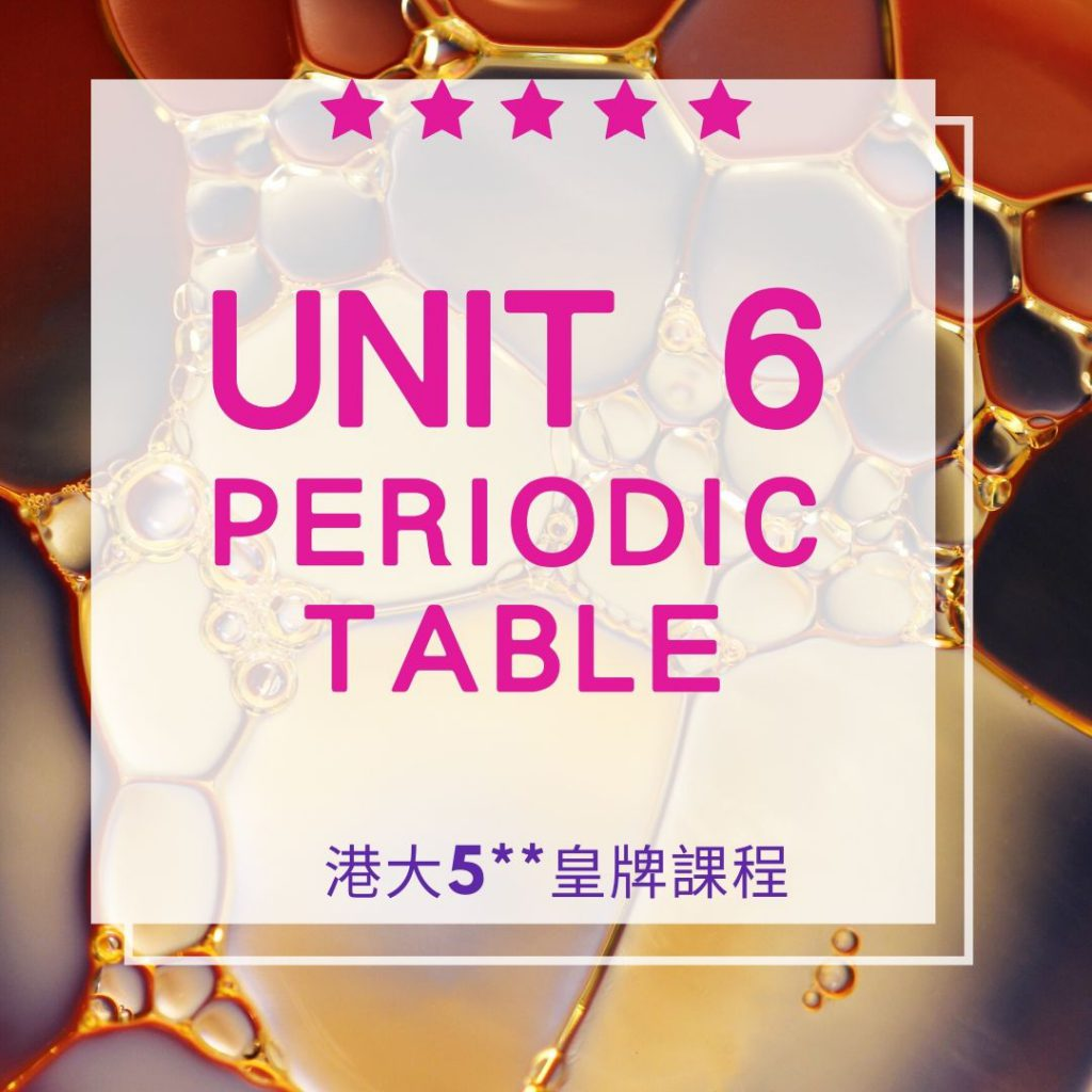 Unit 6. Periodic Table 元素週期表 2