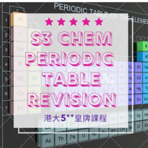 F.3 Chem Periodic Table Revision 元素週期表 2